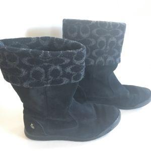 Coach Suede/Wool Tatum Boots